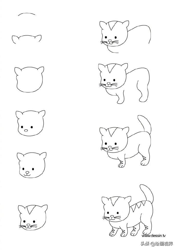 孩子想要画画,你不会教?9种动物简笔画线稿教你画,简单易学