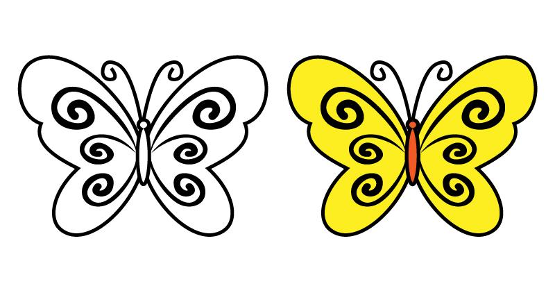 儿童简笔画蝴蝶(一)美丽的蝴蝶素材,简单实用