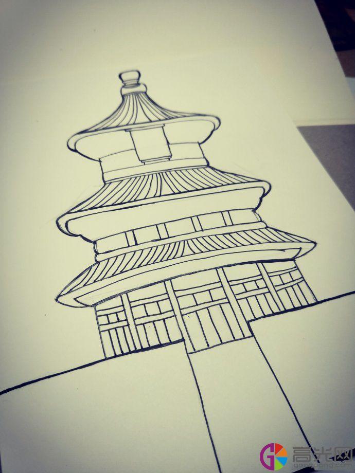 天安门简笔画怎么画,北京天安门画法教程步骤